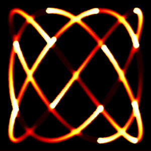 Virtual Particle Flame Image - Copyright Arash Partow