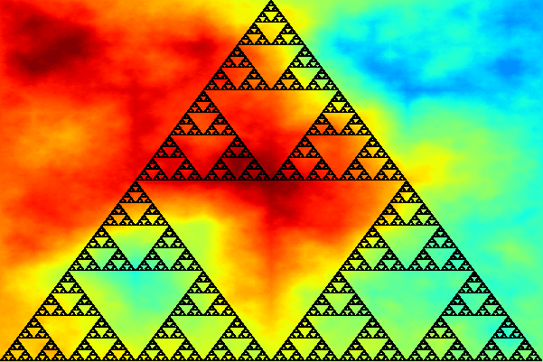 C++ Bitmap Library Sierpinski Triangle Via Monte-Carlo Method - By Arash Partow